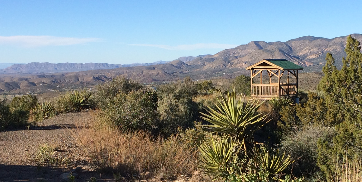 The Grandview Trail offers a shelter that's perfect for a picnic break.