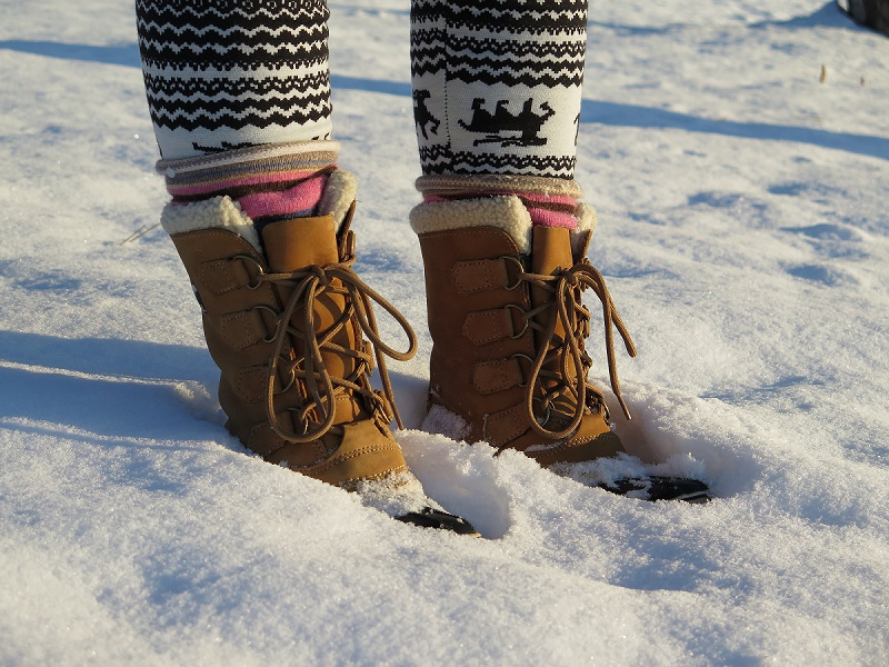 Luckily I'd somehow kept one pair of winter boots.