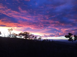 Sunset in Sacramento Mountains
