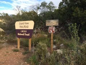 Grandview Trail Sign High Rolls NM