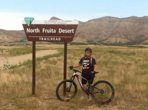 Mountain biking on my new Giant Lust Advanced in Fruita , Colorado.