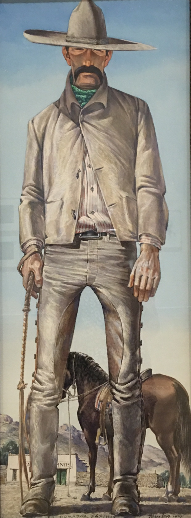 A cowboy painted by El Paso native Tom Lea.